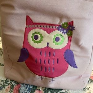 Owl basket - 14x14 - girls room